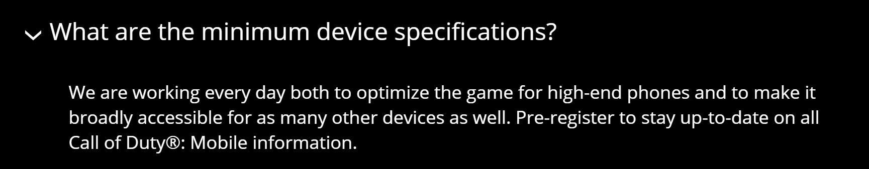 使命召唤手游配置要求报错 手机配置要求一览