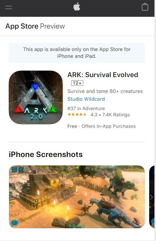 方舟:生存进化手游iOS系统下载